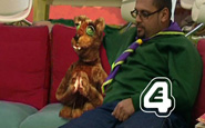 """A shot from """"Puppet Big Brother"""" a film by a production company making viral video content."""