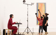 """A shot from """"Visitor"""" a film by a creative agency working with museums and galeries"""