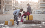 Aleppo: fetching water